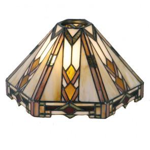 T-hanglamp 2 lichts + lampenkapjes Art Deco Arrow