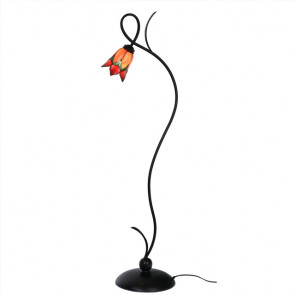 Tiffany Vloerlamp Lovely Flower rood