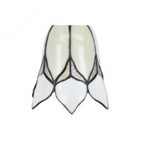 Lampenkap Tiffany Loverly Flower White