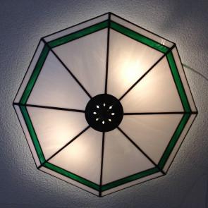 Plafondlamp Foka | Carola wit/groen