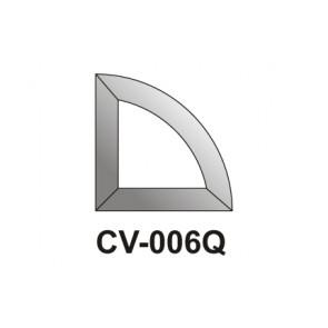 Facet kwart Cirkel  76x76