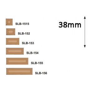 Facet  serie rechthoek 38 mm brons