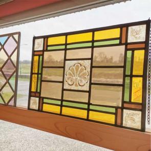Glasinlood 014 | 27x42 cm voorzetraam gebrandschilderd oud