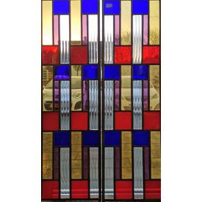 Glasinlood 007 | 25x91 cm voorzetraam gekleurd (per stuk)