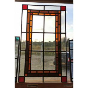 Glasinlood 009 | 36x61 cm Voorzetraam gepatineerd oranje