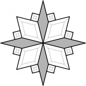 IJsbloemwybers blank (per 4 stuks)