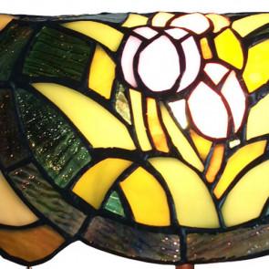Bureaulamp bloemen 25x25x42 cm